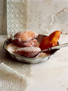 Pear Fritters lets make it with Blueberries instead...