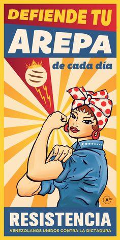 Doña Resistencia. Rosa la arepera.  Resistencia - Venezuela.  Harina Pan.