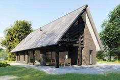 Building A Wooden House, Building Art, Building Design, Garden Architecture, Modern Architecture, Build Your Own House, Modern House Design, Bungalow, New Homes
