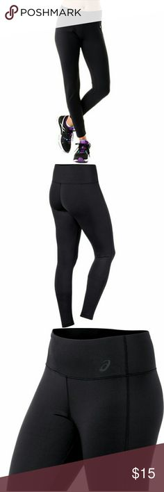 Asics barre tight leggings Worn once, perfect condition, asics women's barre tight athletic running legging. Loved but too small🙁 Asics Pants Leggings