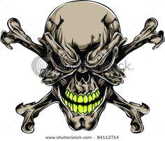☠  Vector Tattoo Skull ☠