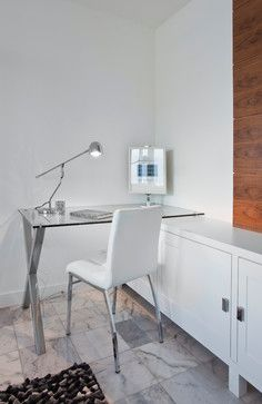 Coal Harbour condo designed by http://olive-eo.com/ - contemporary - home office - vancouver - John Bentley