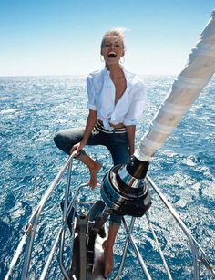 'Calme Blanc...' Edita Vilkeviciute by Gilles Bensimon for Vogue Paris May 2013 1