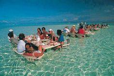 Ocean restaurant; Bora Bora