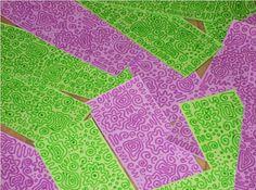 Artesania Assumpta: Tot fet a mà: Doodles verds i liles per al tema lliure de Les An...