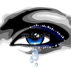 #Blue #Eye with #Tears-#Vector > http://us.fotolia.com/id/47014634#