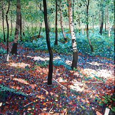 "Ewa Adams ""Summer Woods"" acrylic on canvas"