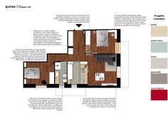 Spazio 14 10 | architettura interni low cost - Roma :: Rob&Ann: progetto completo di un appartamento a Roma dallo stile vintage e dai colori accesi