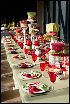 Mad Hatter centerpieces