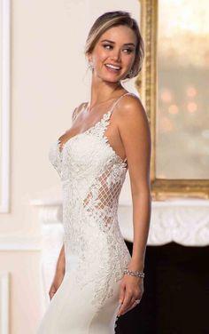 6586 Designer Vintage Wedding Gown by Stella York