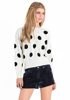Domino Effect Sweater by Mink Pink #threadsence #fashion