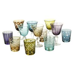Pols Potten - Mixed Cuttings Wine Glasses - Set of 6