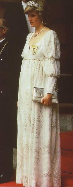 May 14, 1984: Princess Diana at the banquet at the Royal Academy of Arts at Burlington House, Piccadilly.