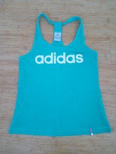 Top vert Adidas T.36 10,00 € fitness sport sportswear femme women débardeur