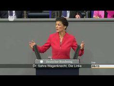 """Generaldebatte der Regierungspolitik: Rede Sahra Wagenknecht am 23.11.2016 Sahra Wagenknecht im Bundestag in Richtung einer gewissen Frau Merkel: """"Sie lachen über erschütternde Briefe von besorgten Bürgern? Dass Sie sich nicht schämen - sie schockieren mich! Das deutsche Volk ist am Ende - es hat die Nase voll von all ihren Lügenmärchen über die Alternativlosigkeit ihrer zerstörerischen Politik! Sie provozieren einen neuen Krieg, vereinbaren volksfeindliche Handelsverträge - und Deutschland…"""