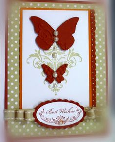 .ideas for my new butterfly diecut and big shot...  I really like the color combination on this card