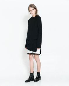 ZARA - TRF - COMBINED LACE DRESS