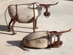 The Art Of Up-Cycling: Wire Art, Stones, Barbed Wire-Fab Funky Random Designs To Tickle The Imagination