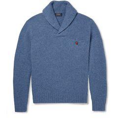 Ralph Lauren Light Blue Merino Wool and Angora Blend Sweater-$165.00