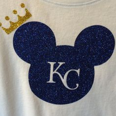 One of my new Disney shirts. KC royals Mickey Mouse shirt!