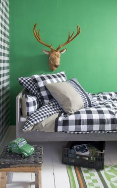A Perfect Boys Bedroom With Classic Swedish Check By Bibelotte Keywords:French Kids, Kids Room Decor, Scandinavian Style, Nordic Style, Norw. Fashion Room, Kid Spaces, Boy Room, Room Inspiration, Kids Bedroom, Nordic Style, Scandinavian Style, Swedish Style, Buffalo Check
