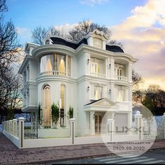 Luxury House Design Improve Ordinary House, Whether you're providing goods or se. - Luxury House Design Improve Ordinary House, Whether you're providing goods or services, the way s - Villa Plan, Classic House Design, Modern House Design, Style At Home, Modern Mansion, Villa Design, Facade House, House Goals, Victorian Homes