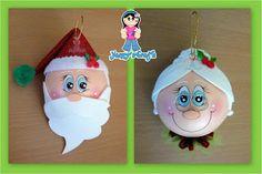 esferas fofuchas y fofuplumas navidenas Pinterest Esferas