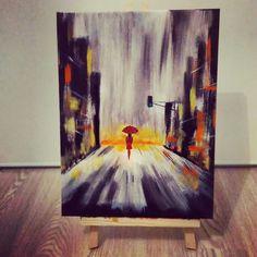 Ville - peinture acrylique sur toile