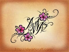 tattoo ideas names or initials - Google Search