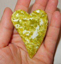 Lizardite Freeform Heart by earthlightgems on Etsy
