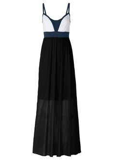 Chiffongklänning mörk orange/blå/vit beställa online - bonprix.se