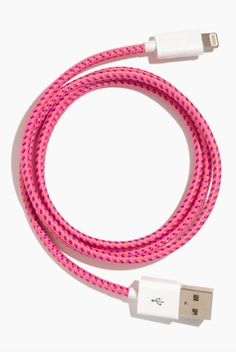 pink woven USB cable  http://rstyle.me/n/uw8ripdpe