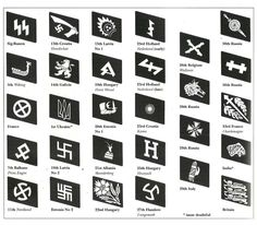 The collar patches of the Waffen-SS.