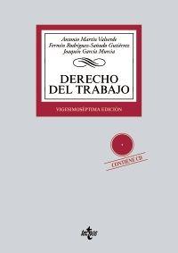 Derecho Del Trabajo Antonio Martín Valverde Fermín Rodríguez Sañudo Gutiérrez Joaquín García Murcia 27ª Ed Te Ciências Sociais Seguridade Social Ciencias