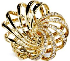 GILDED SANDS DIAMOND RING  $5,300.    18k yellow gold.