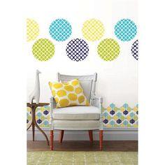 Jonathan Adler for WallPops line. Hollywood Dots, Blox and Stripes. #walldecals  #wallart  #peelandstick  #WallPops  #wallstickers  #decor  #DIY  #decorating