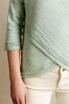 Crossed Pointelle Pullover - anthropologie.com #anthrofave