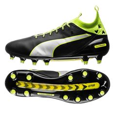 77725c62d Puma evoTOUCH Pro FG Soccer Cleats (Black Safety Yellow)
