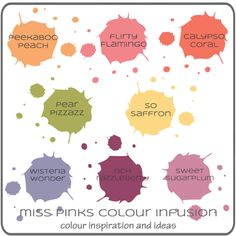 Miss Pinks Colour Infusion | Sue Vine | MissPinksCraftSpot | Stampin' Up! | MissPinksCraftSpot #colour mix #colour combo