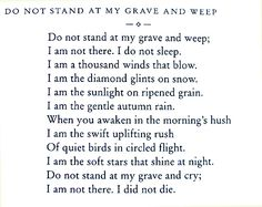 Poem written in 1932 by Mary Elizabeth Frye.