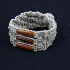 Hemp Jewelry horn Bead Bracelet Cuff   Free by STUFFandTHINGS, $6.00