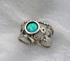 Christmas in July SALE - Opal ring. Sterling silver and Opal ring (sr-9916). unique gift for her, birthday gifts, opal jewelry
