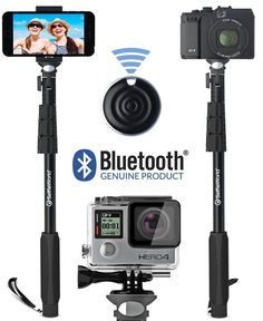 Save - Professional Selfie Stick / GoPro Monopod & Bluetooth Remote Control Shutter For Go Pro Hero iPhone Android Samsung Galaxy Digital Cameras Iphone Reviews, Smartphone Reviews, Selfies, Gopro Camera, Camera Tripod, Bluetooth Remote, Perfume, Selfie Stick, Gopro Hero