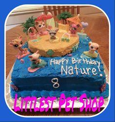 Littlest Pet Shop Beach Cake by Meg Stin