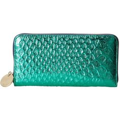 Deux Lux Bellini Wallet ($18) ❤ liked on Polyvore featuring bags, wallets, mermaid, purses, blue bag, blue crocodile wallet, croc bags, deux lux bags and crocodile wallet