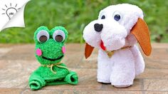 How to Make Towel Animals [Dog, Frog, Butterfly]