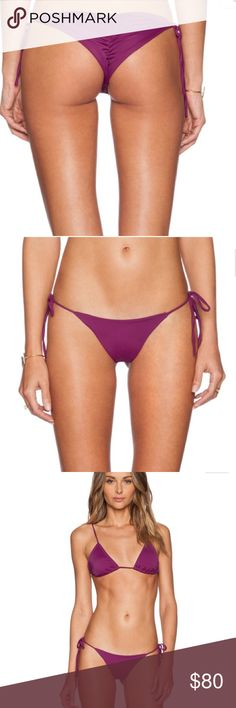 "💕👑Salt SwimWear Alex Bikini Bottoms👑💕 Salt Swimwear Alex bottom is perfect for the girl who likes to show some skin The tie-sides and ruched booty leave little to the imagination. Minimal Coverag. Detailed with ruching on the back side. PERFECT ""Rump Shaper""💜 NWT in sealed bag💕💕💕💕 Salt Swimwear Swim Bikinis"