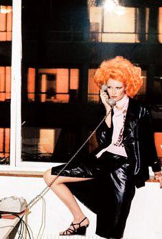 Gunilla Lindblad by Helmut Newton for Vogue Paris, February 1975 Seventies Fashion, 70s Fashion, Trendy Fashion, Mullholland Drive, Helmet Newton, 80s Womens Fashion, Fashion Images, Mode Inspiration, Vogue Paris