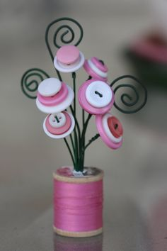 spool bouquet-love the wire curls