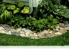 Ideas Bamboo Garden Border Bed Edging Landscaping Stone And Flower Rock Borders
